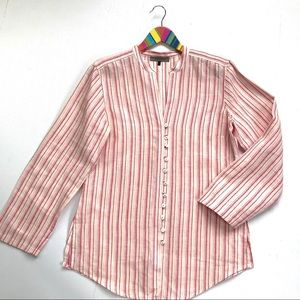 Jaeger 100% Linen Striped Tunic